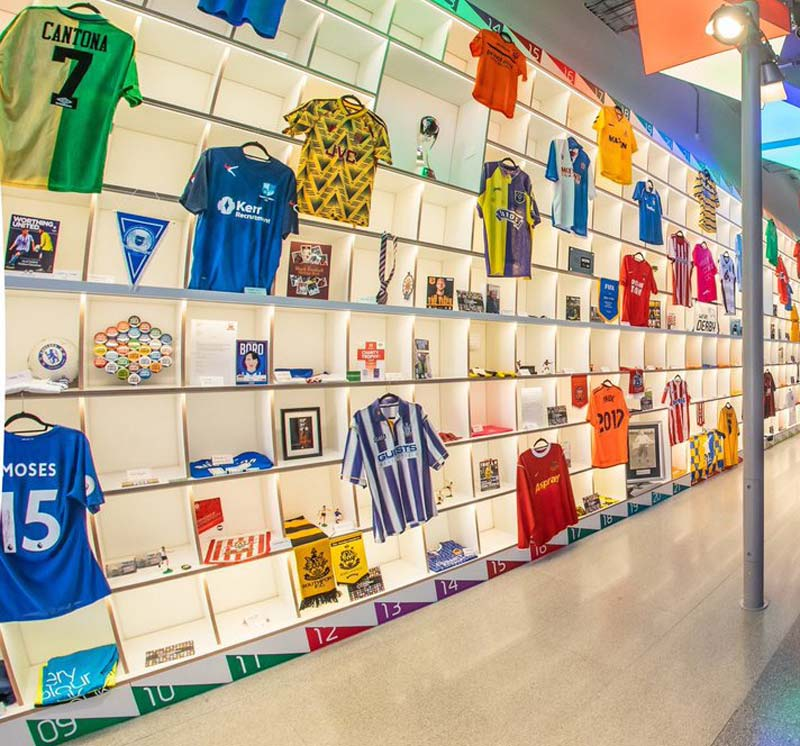 View of the Wall of Football featuring Everycolour's contributions